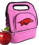 Arkansas Razorbacks Lunch Bag Pink