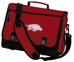 University of Arkansas Messenger Bag Red