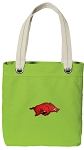 Arkansas Razorbacks Tote Bag RICH COTTON CANVAS Green