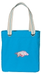 University of Arkansas Tote Bag RICH COTTON CANVAS Turquoise