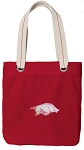 University of Arkansas Tote Bag RICH COTTON CANVAS Red