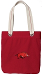 Arkansas Razorbacks Tote Bag RICH COTTON CANVAS Red