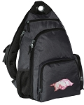 University of Arkansas Backpack Cross Body Style Gray