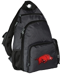 Arkansas Razorbacks Backpack Cross Body Style Gray