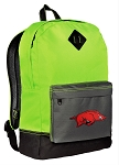 Arkansas Razorbacks Backpack Classic Style Fashion Green