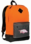 University of Arkansas Backpack Classic Style Cool Orange