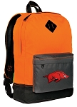Arkansas Razorbacks Backpack Classic Style Cool Orange