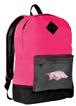 University of Arkansas Backpack Classic Style HOT PINK