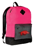 Arkansas Razorbacks Backpack Classic Style HOT PINK
