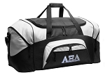 Alpha Xi Duffel Bags or AZD Sorority Gym Bags For Men or Women