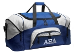 Alpha Xi Delta Duffle Bag or AZD Sorority Gym Bags Blue