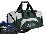 SMALL Alpha Xi Delta Gym Bag AZD Sorority Duffle Green