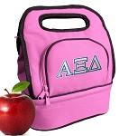 Alpha Xi Sorority Lunch Bag Pink