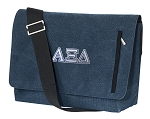 Alpha Xi Messenger Bags STYLISH WASHED COTTON CANVAS Blue