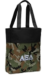 Alpha Xi Tote Bag Everyday Carryall Camo