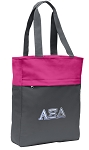 Alpha Xi Tote Bag Everyday Carryall Pink