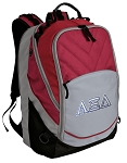 Alpha Xi Deluxe Laptop Backpack Red