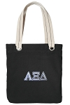 Alpha XI Tote Bag RICH COTTON CANVAS Black