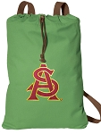 ASU Cotton Drawstring Bag Backpacks Cool Green