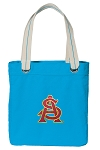 ASU Tote Bag RICH COTTON CANVAS Turquoise
