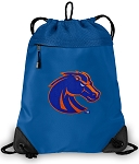 Boise State Drawstring Bag MESH & MICROFIBER Royal