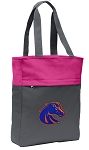 Boise State Tote Bag Everyday Carryall Pink