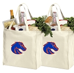 Boise State University Shopping Bags Boise State Broncos Grocery Bags 2 PC SET