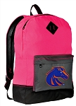 Boise State Broncos Backpack HI VISIBILITY Boise State University CLASSIC STYLE For Her Girls Women