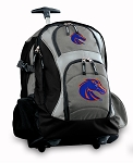 Boise State Rolling Backpack Black Gray