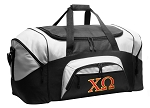Chi Omega Duffel Bags or Chi O Gym Bags For Men or Women