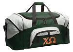 Large Chi Omega Duffle Bag Green