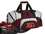 Chi O Small Duffle Bag Maroon