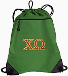 Chi O Drawstring Backpack Mesh and Microfiber