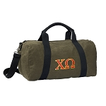 Chi O Duffel RICH COTTON Washed Finish Khaki
