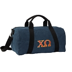 Chi O Duffel RICH COTTON Washed Finish Blue