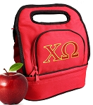 Chi O Lunch Bag Red
