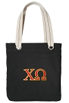 Chi O Tote Bag RICH COTTON CANVAS Black