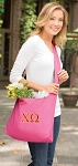 Chi O Tote Bag Sling Style Pink