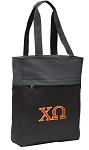 Chi O Tote Bag Everyday Carryall Black