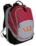 Chi O Deluxe Laptop Backpack Red