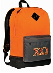 Chi O Backpack Classic Style Cool Orange