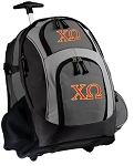Chi O Rolling Backpack Black Gray