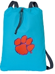 Clemson Drawstring Backpack Turquoise