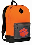Clemson Backpack Classic Style Cool Orange