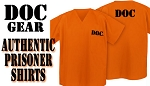 PRISON Costume SHIRT DOC Convict Costume Top