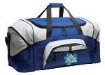 Tri Delta Duffle Bag or Tri Delt Sorority Gym Bags Blue