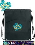 Tri Delt Drawstring Cinch Backpack Bag