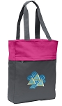 Tri Delt Tote Bag Everyday Carryall Pink