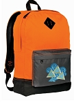 Tri Delt Backpack Classic Style Cool Orange