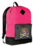 East Carolina Backpack Classic Style HOT PINK